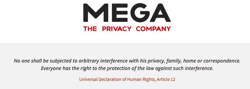 Privacy with Mega